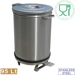 poubelle pour restaurant inox
